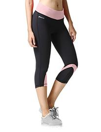 Baleaf Women's Yoga Running Workout Capri Legging Hidden