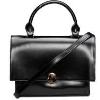 Yoins Black Fashion PU Leather Handle Bag