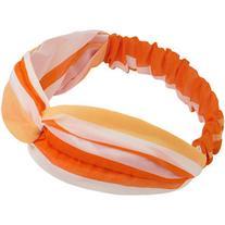 Yoins Orange Stripe Knotted Headband