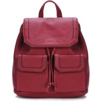 Yoins Red Drawstring Design and Magnetic Closure Backpack