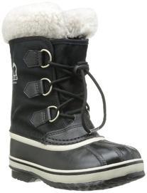 Sorel Children Yoot Pac Nylon Winter Boot , Black, 10 M US