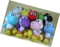 "Super Mario Brothers Set of 9 Yoshi Plush 6"" Dolls Featuring"