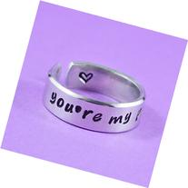 you're my person - Hand Stamped Aluminum Cuff Ring, Couples