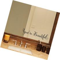 YINGKAI You're Beautiful Quote Mirror Decal Vinyl Decal