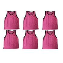 BlueDot Trading Youth 6 Pink sports pinnies- 6 scrimmage
