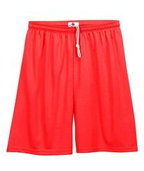 "2107 Badger Youth 6"" B-Dry Core Shorts - Hot Coral - Small"
