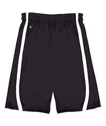 Badger Youth B-Slam Reversible 6 Short 2244 -Black/ White S