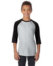 Alo Sport Youth Baseball T-Shirt - SP SILVER/BLACK - XS