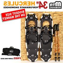 "New MTN Man Woman Kid Youth 34"" white Snowshoes with Nordic"