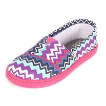 Toms Youth Classic Slip-On Shoes - Puple Zig Zag Pop - 5.5