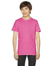 American Apparel Youth Fine Jersey Short Sleeve T-Shirt -