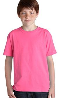 Gildan - Youth Heavy Cotton T-Shirt - 5000B-Safety Pink-L