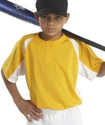 Badger Sport Youth Hook Placket T-Shirt - 2938 - Gold /
