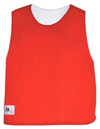 Badger Youth Lacrosse Reversible Jersey Tank, Hot Coral/Wht