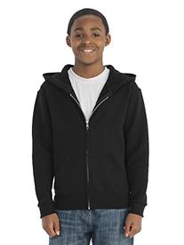 ; JERZEES; Youth NuBlend; Full Zip Hooded Sweatshirt. 993B-