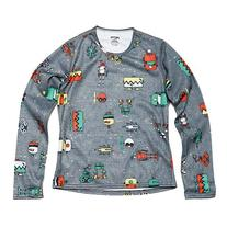 Hot Chillys Youth Pepper Skins Print Crewneck - Bots-