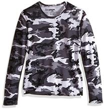 Hot Chillys Youth Pepper Skins Print Crewneck, Storm, X-
