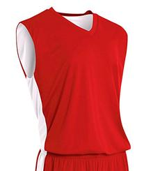 A4 Adult Reversible Moisture Management Muscle - Scarlet Red