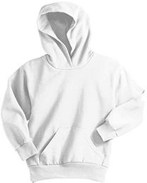 Youth Soft and Cozy Hoodie White Size Youth 10-12 Medium
