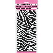 Zebra Print Cello Bags, 10pk