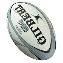 Gilbert Zenon Trainer Rugby Ball, Grey/Black