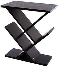 Adesso WK4614-01 Zig-Zag Accent Table, Black
