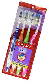 Colgate Wave ZigZag Full Head Toothbrushes, Soft, 4 ea