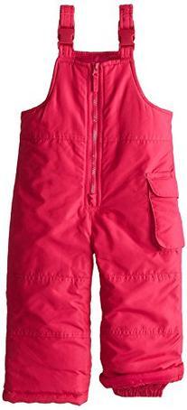 London Fog Little Girl's Zip Front Snowbib, Pink, 2T