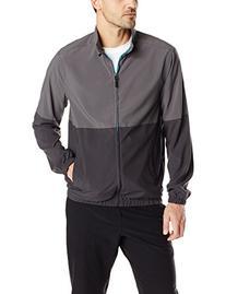 32Degrees Men's Full Zip Jacket Colorblock, Steel Blue/Char