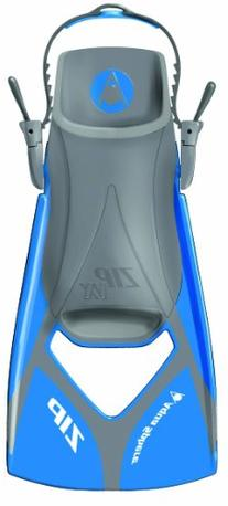 Aqua Sphere Zip VX Fitness Swim Fins, Blue/Grey, Large