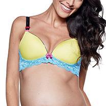 You! Lingerie Zoe Maternity Nursing Bra - Yellow with Blue