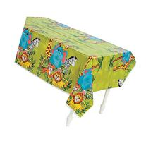 Fun Express Zoo Animal Party Plastic Tablecloth - 108 x 54