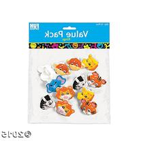 Zoo Animal Rings - 12 pcs