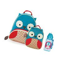 Skip Hop Zoo Backpack, Lunchie, and Bottle Set - Owl