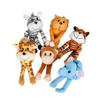 Plush zoo set of cute little stuffed toy animals with Velcro